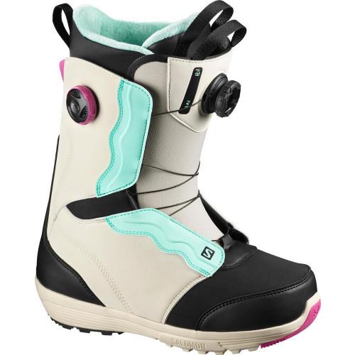Salomon Ivy BOA SJ Women's Snowboard Boots Rainy Day/Black/Blue 2021
