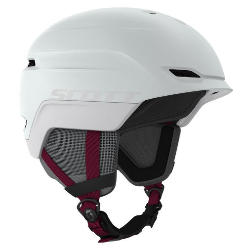 Scott Chase 2 Plus MIPS Womens Ski & Snowboard Helmet Mist Grey/Merlot Red 2020