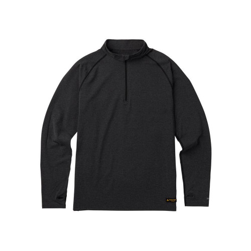 Burton Expedition 1/4 Zip Base Layer True Black Heather