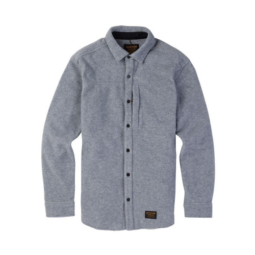Burton Spillway Fleece Shirt Grey Heather