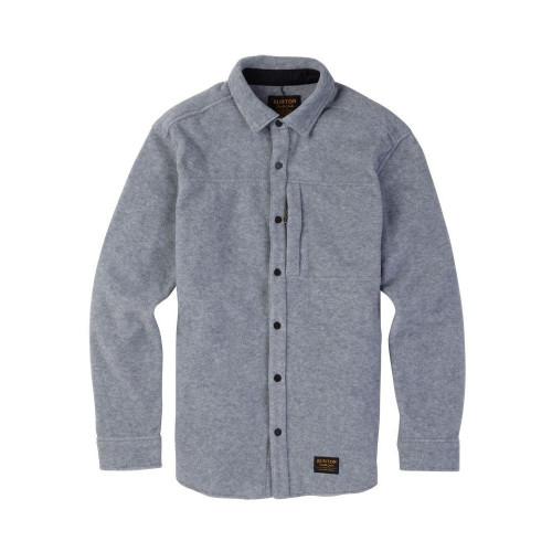 Burton Spillway Fleece Shirt Grey Heather