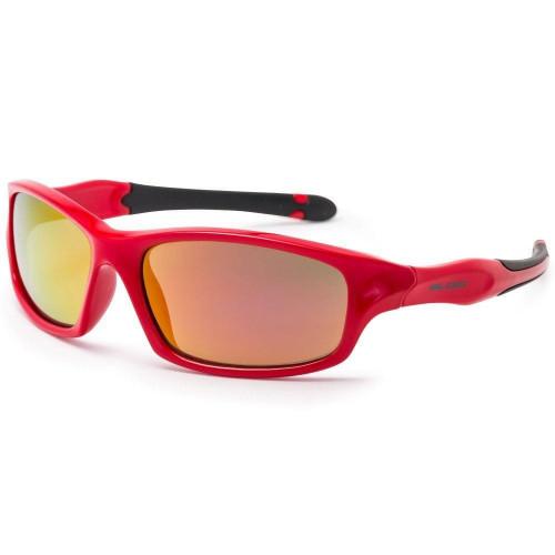Bloc Spider Junior Sunglasses  Shiny Red - Red Mirror Cat.3 Lens