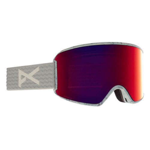 Anon WM3 Womens Goggles Grey - Perceive Sunny Red + Cloudy Burst Spare Lens