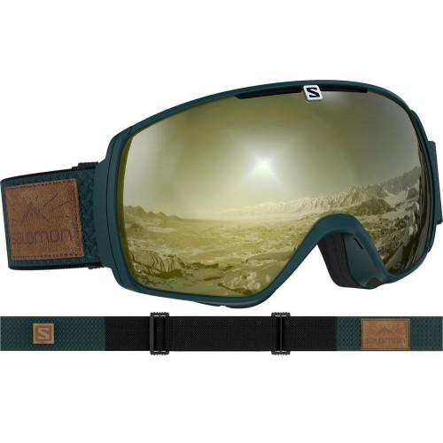 Salomon XT One Sigma Goggles Green Gables - Solar Black/Gold Lens