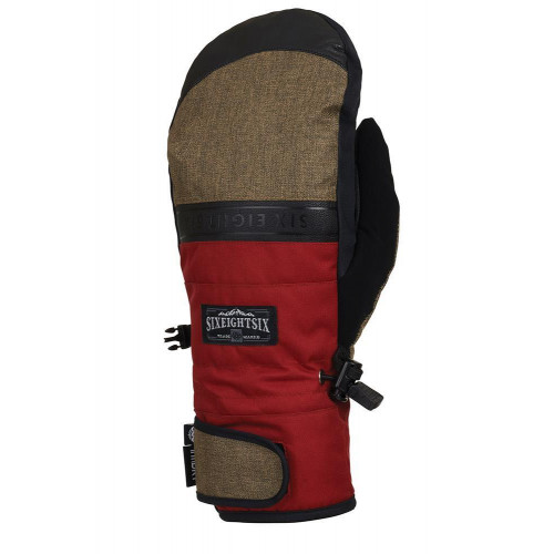 686 Mens Infiloft Recon Mitts Rusty Red Colorblock