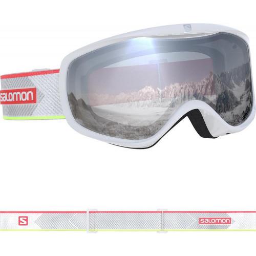 Salomon Sense Womens Goggles White Corail Neon