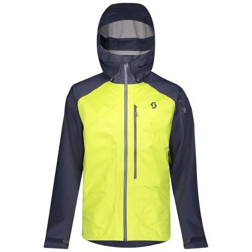 Scott Mens Explorair 3L Jacket Blue Nights/Lime Yellow 2020