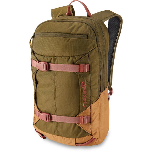 Dakine Women's Mission Pro 18L Backpack Dark Olive / Caramel
