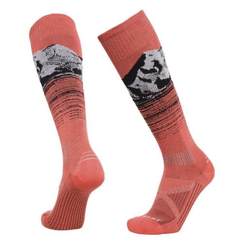 Le Bent Le Send Pro Unisex Ski + Snowboard Socks Living Coral