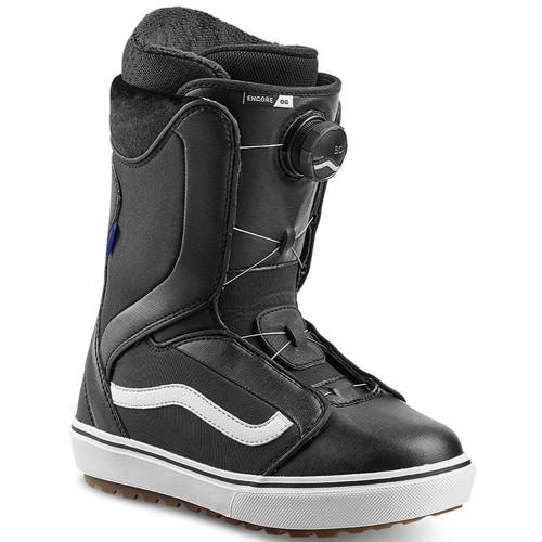 Vans Encore OG Womens Snowboard Boots Black/White 2020