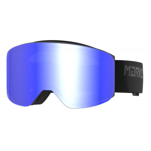 Marker Squadron Goggles Black Matt - Blue HD Mirror Lens
