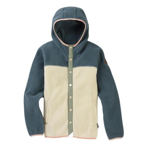 Burton Womens Hearth Snap-up Fleece Dark Slate / Creme Brulee
