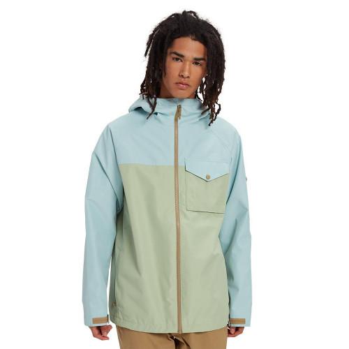 Burton Men's Portal Jacket Ether Blue/Sage Green