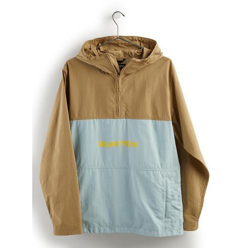 Burton Men's Antiup Anorak Jacket Kelp/Ether Blue