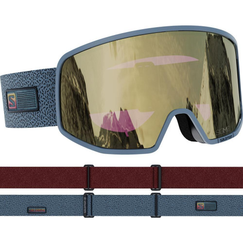 Salomon LO FI Sigma Goggles Grey - Solar Black/Gold Lens