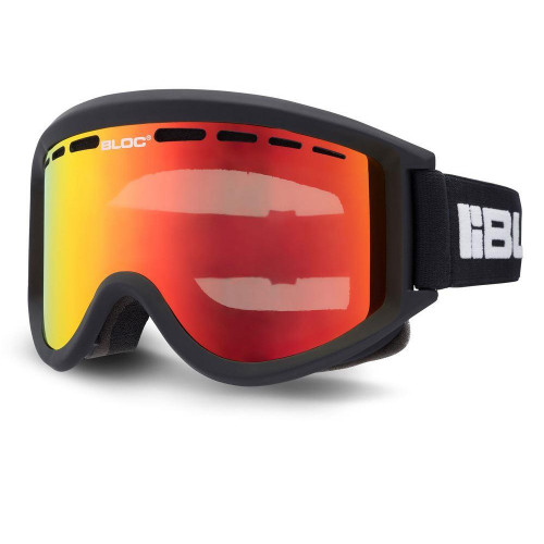 Bloc Aero Goggles Matt Black - Brown Red Mirror Lens