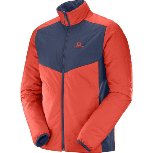 Salomon Drifter Mid Jacket Fiery Red / Night Sky