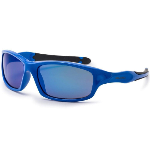 Bloc Spider Junior Sunglasses Shiny Blue - Blue Mirror Cat.3 Lens