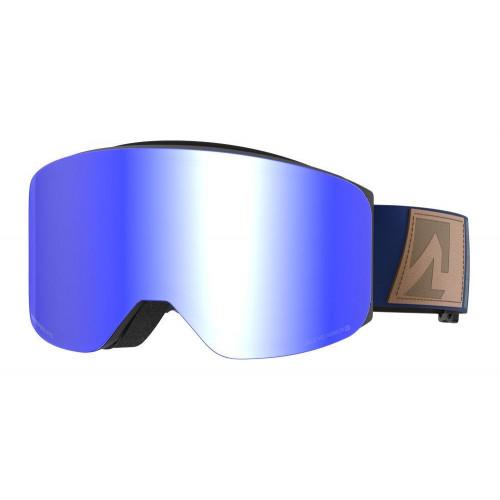 Marker Squadron+ Goggles Black Matt - Blue HD Mirror + Clarity Mirror Lens