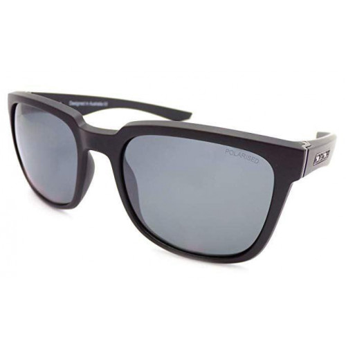 Dirty Dog Blade Sunglasses Matt Black - Grey Mirror Polarised Lens