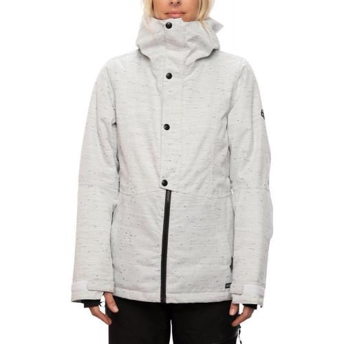 686 Women's Rumor Insulated Jacket White Slub