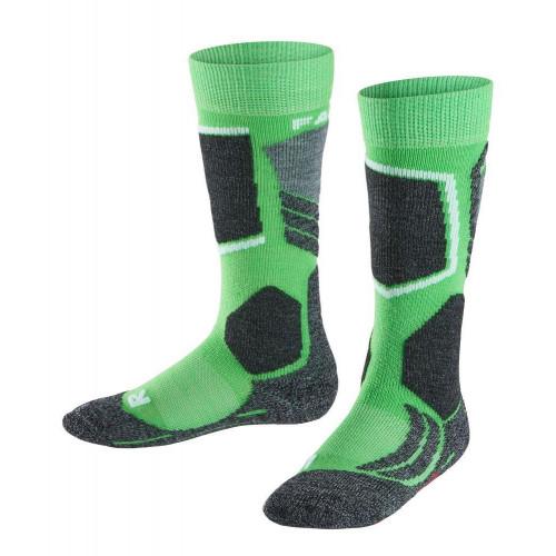 Falke SK2 Kids Ski Socks Vivid Green