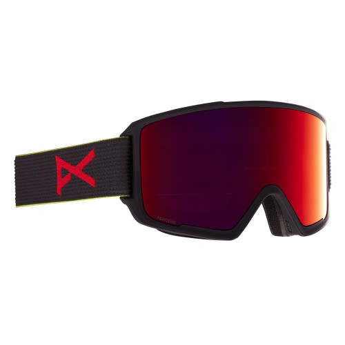 Anon M3 Goggles Black Pop - Perceive Sunny Red + Cloudy Burst Spare Lens