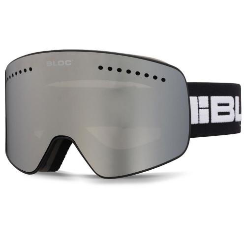 Bloc Fifty-Five Goggles Matt Black - Silver Mirror + Orange Blue Lens