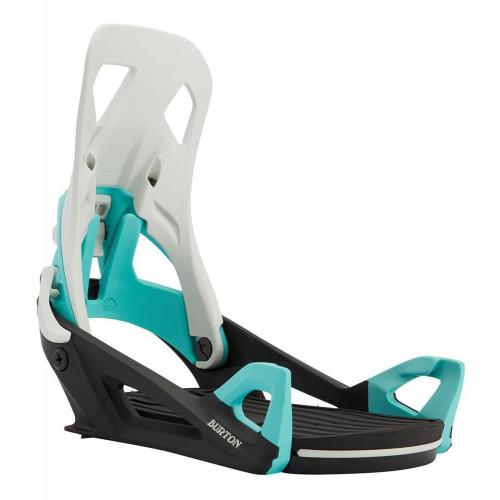 Burton Step On Mens Snowboard Bindings Gray/Black/Teal 2021