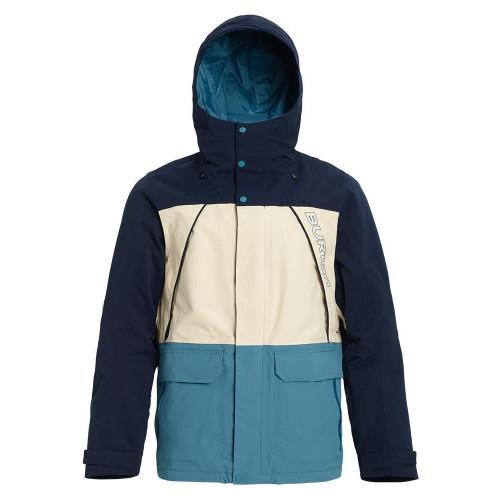 Burton Breach Mens Jacket Dress Blue / Almond Milk / Storm Blue 2020