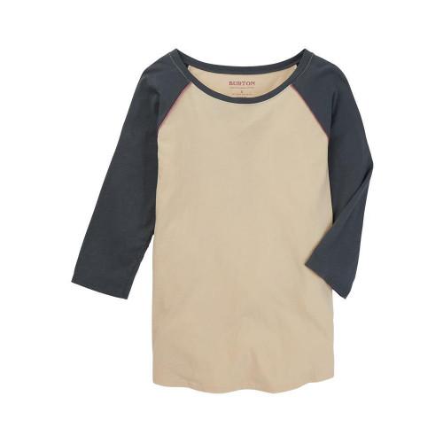 Burton Women's Caratunk Raglan T-Shirt Creme Brulee/Dark Slate
