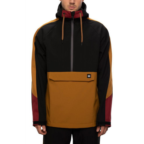 686 Men's Waterproof Anorak Golden Brown Colorblock