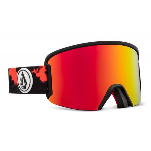 Volcom Garden Goggles Magna Smoke - Red Chrome Lens