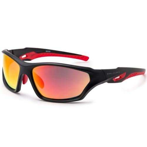 Bloc Beck Mens Sunglasses Matt Black - Red Mirror Cat.3 Lens