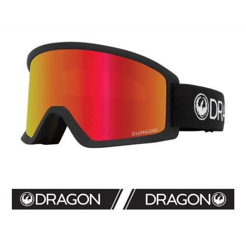 Dragon DX3 OTG Goggles Black - Lumalens Red Ion + Lumalens Amber 2021