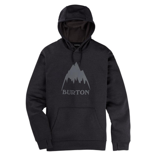 Burton Mens Oak PO Hoodie True Black Heather