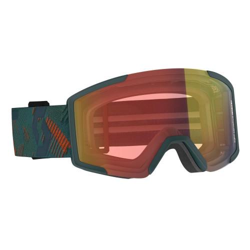 Scott Shield LS Goggles Sombre Green - Light Sensitive Red Chrome Lens