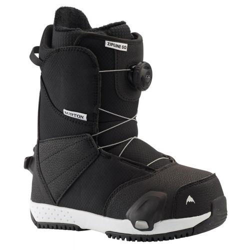 Burton Zipline Step On Kids Snowboard Boots Black 2021