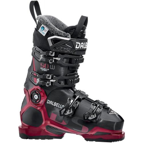 Dalbello DS 90 W LS Womens Ski Boots Black/Metal Red 2020