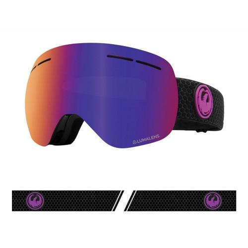 Dragon X1s Goggles Split - Lumalens Purple Ion + Lumalens Amber 2021