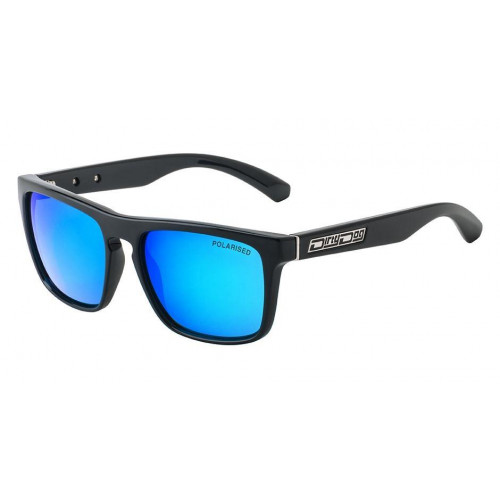 Dirty Dog Monza Sunglasses Black - Blue Polarised Lens