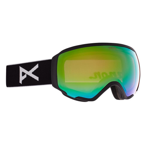 Anon WM1 Womens Goggles Black - Perceive Variable Green + Cloudy Pink Lens
