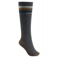 Burton Womens Emblem Midweight Snowboard Socks True Black