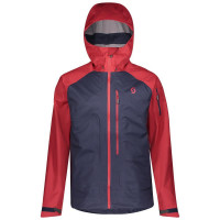 Scott Mens Explorair 3L Jacket Wine Red/Blue Nights 2020