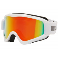 Bloc Small Fit Spark Junior Goggles Shiny White - Dark Brown Red Mirror Lens