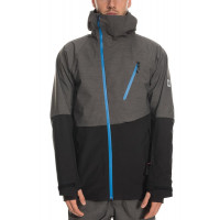 686 Mens GLCR Hydra Thermagraph Jacket Charcoal Heather Colorblock 2020