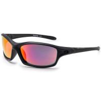 Bloc Daytona Unisex Sunglasses Matt Black - Red Mirror Polarised Cat.3 Lens