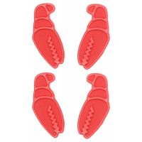 Crab Grab Mini Claws Snowboard Traction Pad Red - 4 Pack