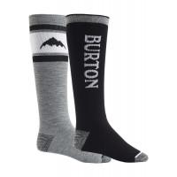 Burton Mens Weekend Midweight Snowboard Socks 2-Pack True Black