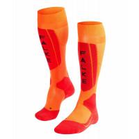 Falke SK5 Silk Mens Ski Socks Flash Orange